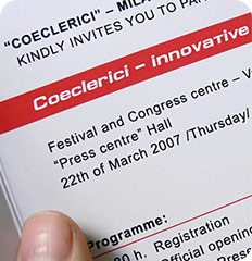 Coeclerici Workshop: invitation Project Shot