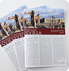 Charming Syria: pamphlet Project Shot